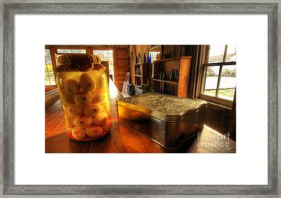 Pickled Eggs Past Due Date Framed Print by Bob Christopher