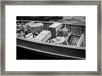 Framed Print featuring the photograph Picnic Boat by Ross Henton