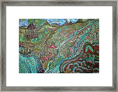 Picnic By The Lake Framed Print by Matthew  James