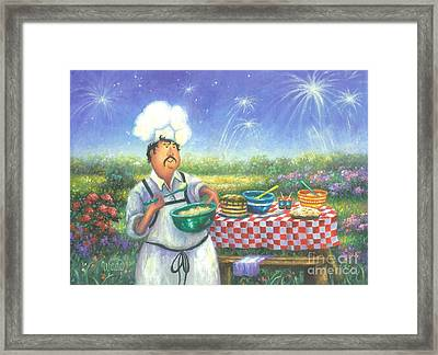 Picnic Chef Framed Print by Vickie Wade