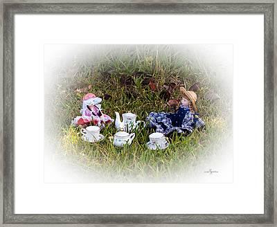 Picnic For Dolls Framed Print
