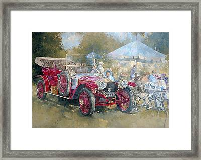 Picnic In Ghost  Framed Print by Peter Miller