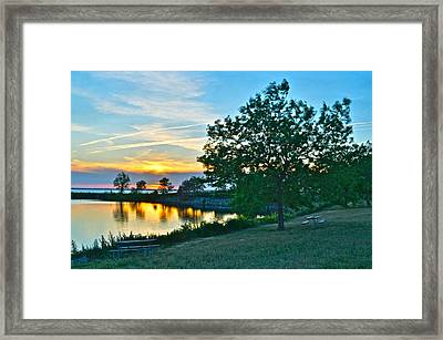 Picnic Lake Framed Print by Frozen in Time Fine Art Photography