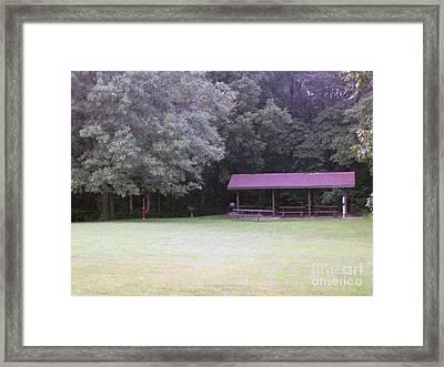 Picnic Shelter Framed Print