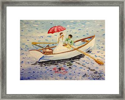 Framed Print featuring the painting Picnic by Stan Tenney