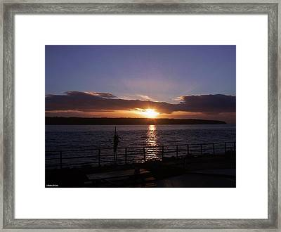 Picnic Sunset Vancouver Island Framed Print
