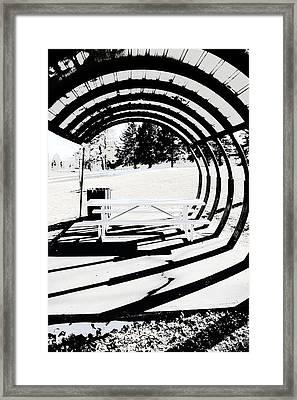 Picnic Table And Gazebo Framed Print