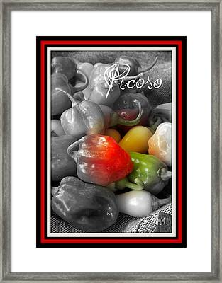 Picoso Peppers Framed Print