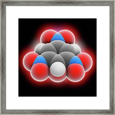 Picric Acid Molecule Framed Print by Laguna Design