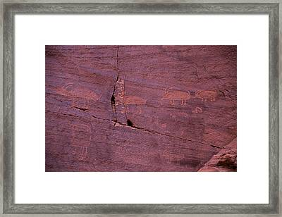 Pictograph Cave Art Framed Print