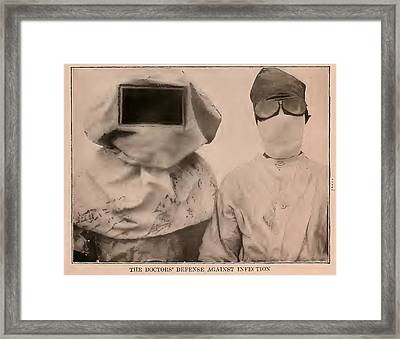 Pictorial History Of 1913 The Doctors Defense Against Infection Framed Print