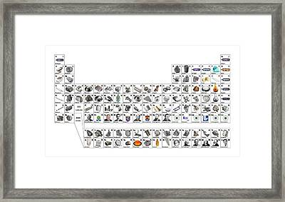 Pictorial Periodic Table Framed Print by Science Photo Library