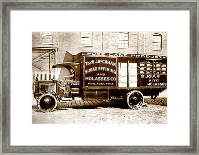 Picture 10 - New - Molasses Truck - Wide Framed Print