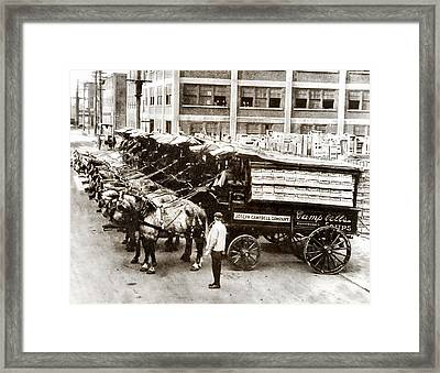 Picture 11 - New - Campbells Soup Wagons Framed Print