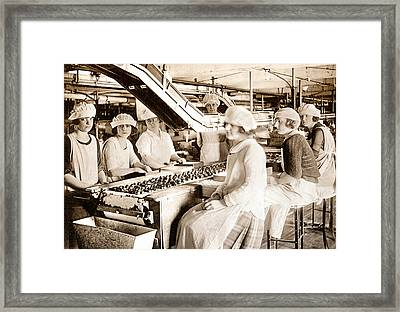 Picture 12 - New - Lucy And Ethel On The Candy Line Framed Print