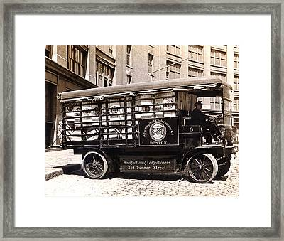 Picture 13 - New - Necco Delivery Truck Framed Print