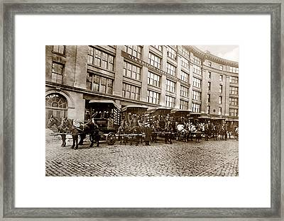 Picture 14 - New - New England Confectionery Co With Horses  Wide Framed Print