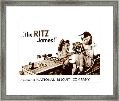 Picture 17- New- The Ritz James Framed Print