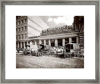 Picture 2 - Kinsie Street 1894 Framed Print
