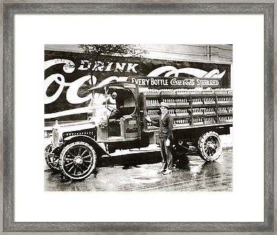Picture 7 - New - Coca Cola Delivery Truck Framed Print