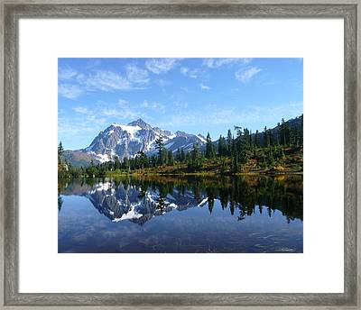 Picture Lake Framed Print