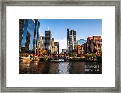 Picture Of Downtown Chicago Loop Buildings Framed Print by Paul Velgos