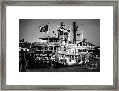 Picture Of Natchez Steamboat In New Orleans Framed Print by Paul Velgos