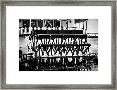 Picture Of Natchez Steamboat Paddle Wheel In New Orleans Framed Print by Paul Velgos