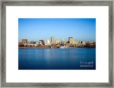 Picture Of Peoria Illinois Skyline Framed Print by Paul Velgos