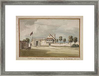 Picture Of The Governor's House Framed Print by British Library