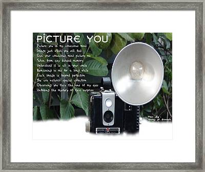 Picture You Framed Print by Rusty Gouveia