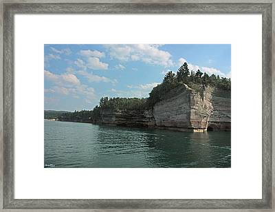 Pictured Rocks Battleship Formation Framed Print