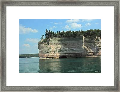 Pictured Rocks Battleship Formation Side View Framed Print