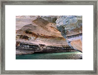 Pictured Rocks Bridge II Framed Print by Kevin Snider