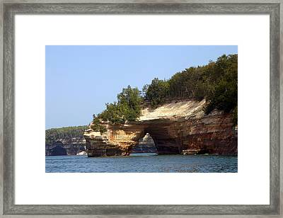 Pictured Rocks Bridge Framed Print by Kevin Snider