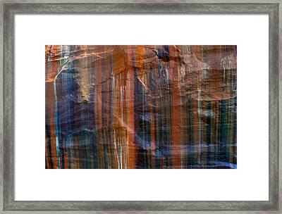 Pictured Rocks Lines Of Color Framed Print