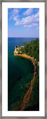 Pictured Rocks National Lake Shore Lake Framed Print by Panoramic Images