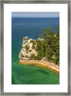 Pictured Rocks National Lakeshore Framed Print by Sebastian Musial