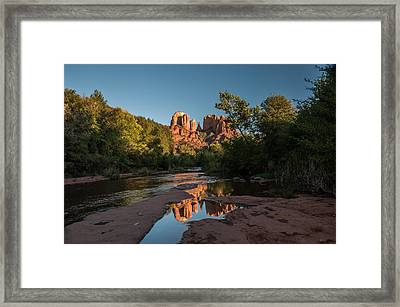Pictured Stream Framed Print