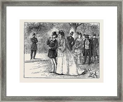 Pictures Of Parisian Life A Wedding Party In The Bois De Framed Print