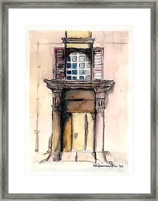 Picturesque Door Framed Print by Kostas Koutsoukanidis