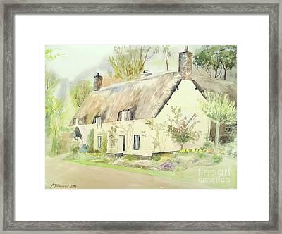 Picturesque Dunster Cottage Framed Print