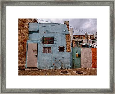 Framed Print featuring the photograph Picturesque Facades by Uri Baruch