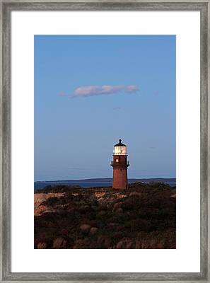 Picturesque New England Lighthouse Photography Of Gay Head Light Framed Print