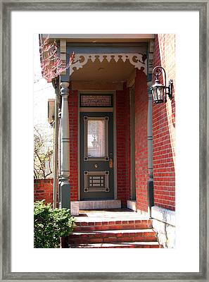 Picturesque Porch Framed Print by Laurel Talabere