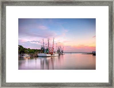 Picturesque Shem Creek Framed Print