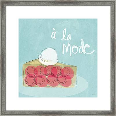 Pie A La Mode Framed Print by Linda Woods