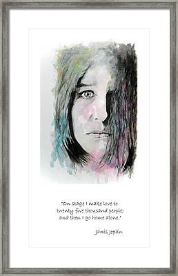 Piece Of My Heart - Quote Framed Print