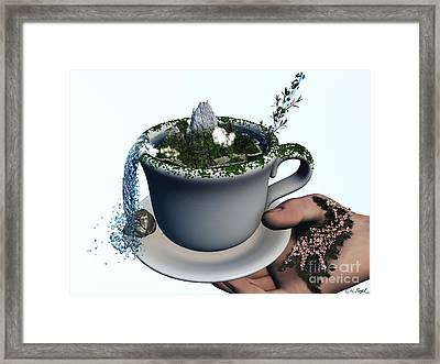 Piece Of Nature Cup Framed Print by Eric Nagel