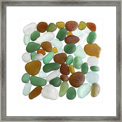 Pieces Of Sea Glass Framed Print